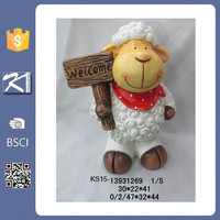 outdoor decoration wholesale ceramic garden statues sheep