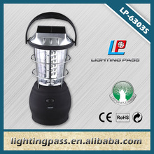 36 led rechargeable led solar lantern with mobile phone charger