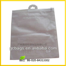 2013 PVC zipper bag with hanger