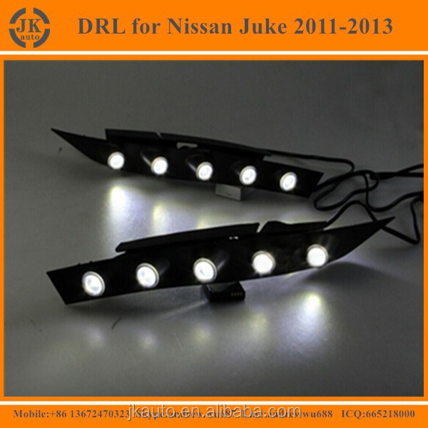 New Arrival Car Specific LED DRL for Nissan Juke High Quaity LED Daytime Running Light for Nissan Juke 2011 2012 2013
