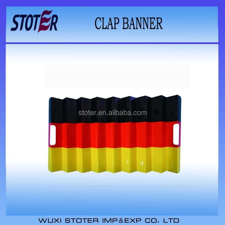 Noise maker paper material fan clap banners ,Germany flag