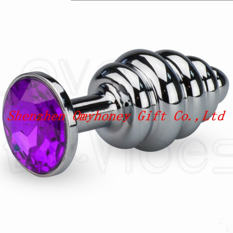 New Design Small Metal Plug Stainless Steel Anal Sex Toys Anal Toys and Plug Vagina Butt Plug Sex Products SM253-Dark Purple