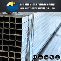 Square steel pipe astm a36 galvanized steel pipe weight per meter