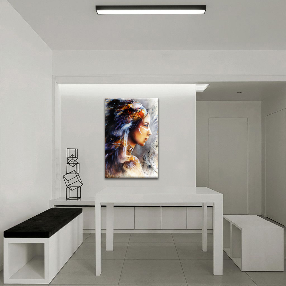 Modern American Indian Painting Prints Abstract Canvas Wall Decor Exotic Charm Home Wall Decoration