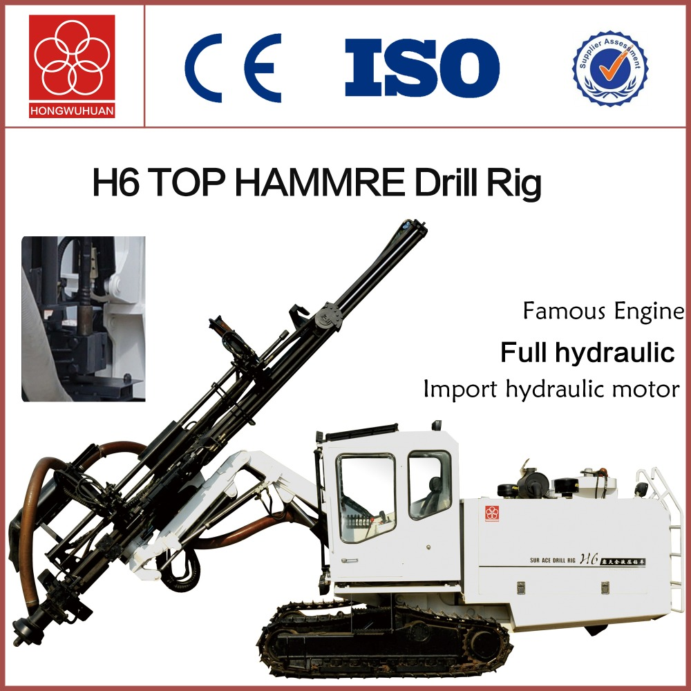H6 portable full hydraulic drilling machine top hammer borehole drilling rig