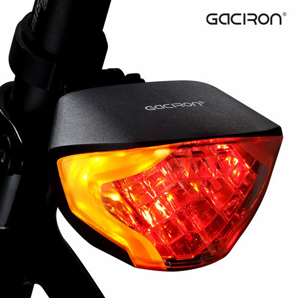 Gaciron Custom Logo Rechargeable Wireless Turn Signal LED Bicycle Cycling Bike Rear Tail Light