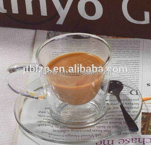 China Mnufacturer New Product Glass Coffee Cups And Saucers/Cheap Tea Cups And Saucers