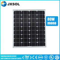 2016 hot sale high efficiency and top quality photovoltaic mono pv panel pv module solar panels 80w for home system