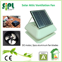 square shroud cover solar air ventilation roof exhaust fan