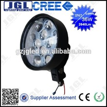Ip67 off road led work lamp 36w 2540lm cree led headlight for motorcycles,jeep,auto parts