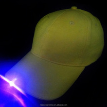 customized cheap blank 6 panel baseball caps with led light