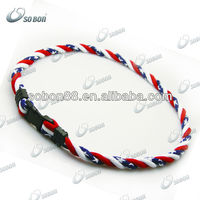 National flags colorful titanium necklace for sports for United States