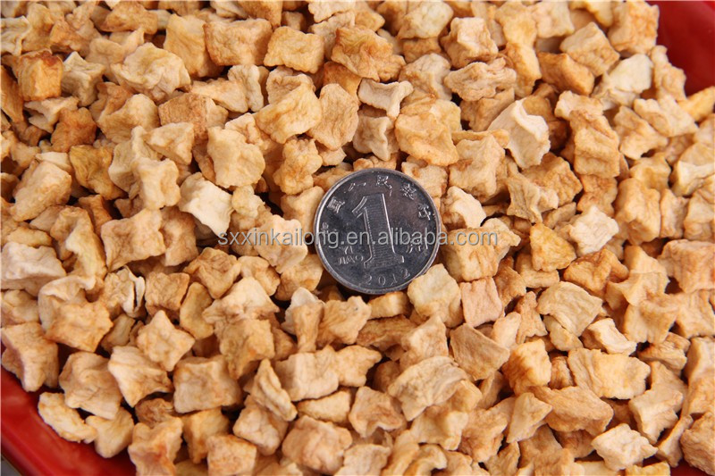 dry sweet dried apple dice, Dehydrated diced apple