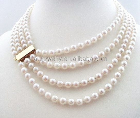 18k Gold Freshwater Pearl Necklace Jewelry