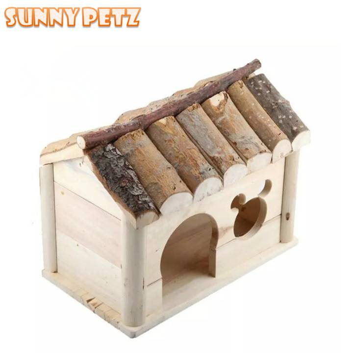Mini Pet House Wooden Home For Small Pets