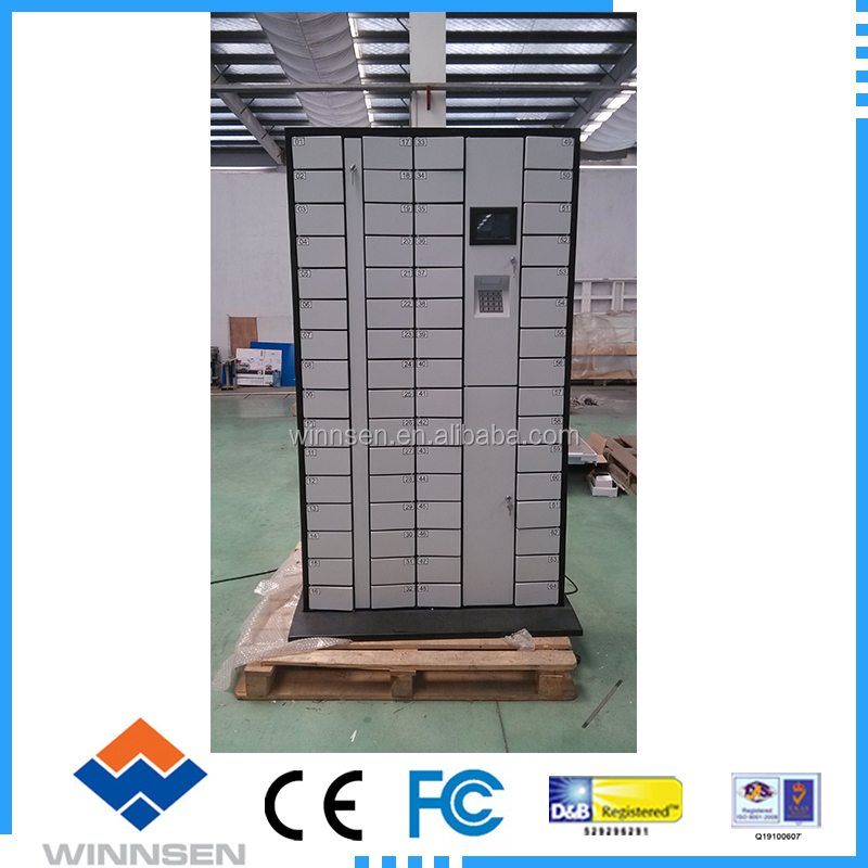 Electronic Smart PIN code Barcode Cell Phone Storage Locker