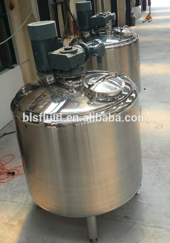stainless steel steam jacketed mixing tank with agitator