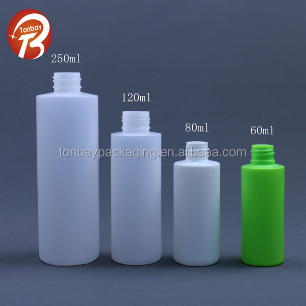 Wholesales 60ml 80ml 120ml 250ml hdpe pe plastic spray bottles