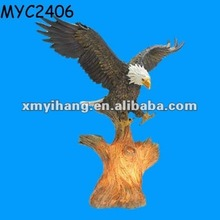 Soaring outdoor resin eagle statues