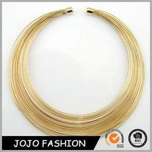 2015 hot sale high quality eco-friendly thin gold threads necklace