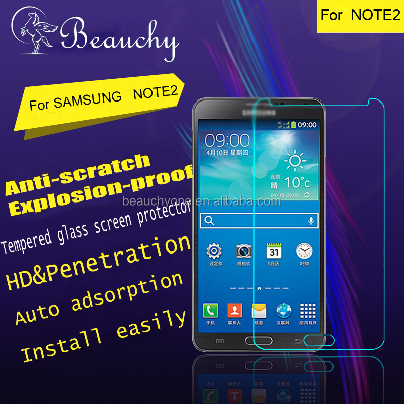 Beauchy 2016 mobile phone tempered glass screen protector film roll for samsung NOTE2