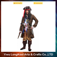 Chinese supplier adult cosplay pirate costume for halloween