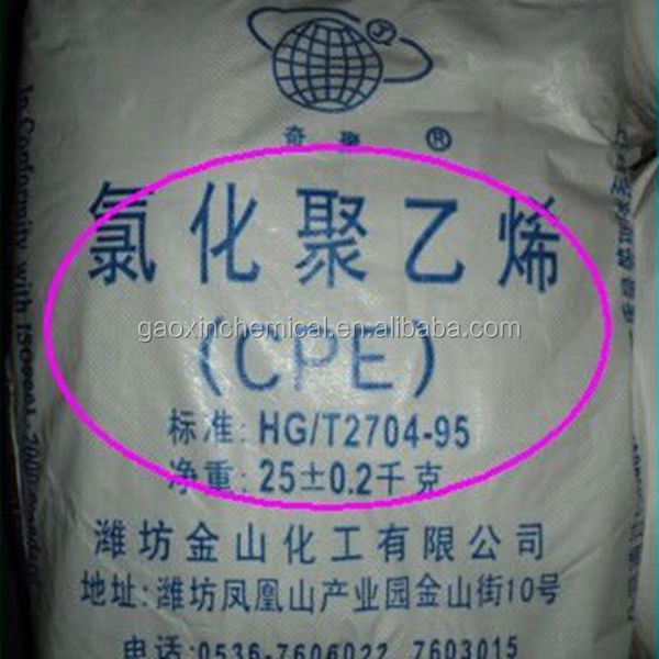 cpe resin impact modifier chemical resin/chlorinated rubber
