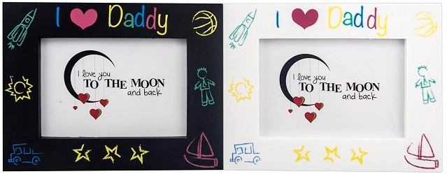 MOM DAD promotion photo frame cheap picture frame with stand