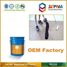 Single-component self-leveling eco-friendly PU coating