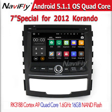 Quad Core Android 5.1.1 Car Dvd Player For Korando 2010-2013 With 16GB FLash GPS Bluetooth