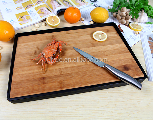 Double side use vegetable bamboo cutting board