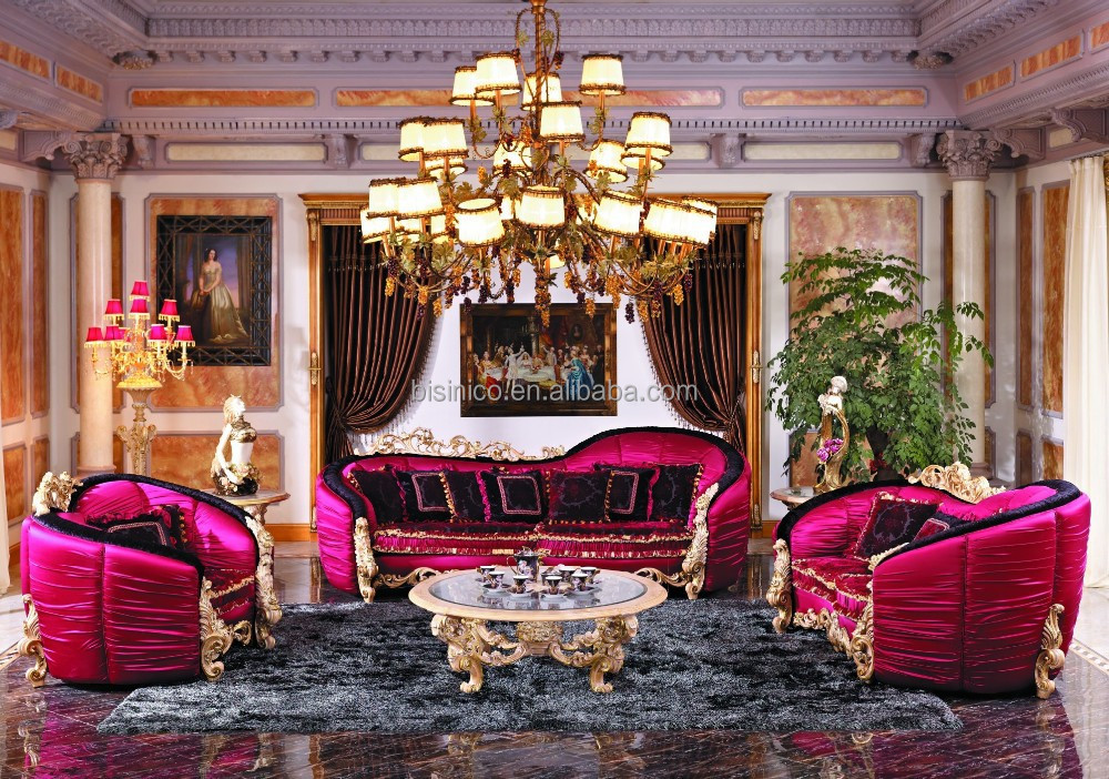 Bisini french style living room furniture fabric sofa set european new classic wood carving for French style living room furniture