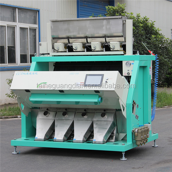 CCD soy bean color sorter , soybean processing equipment
