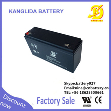 Rechargeable 6v 12ah storage battery/vrla lead acid battery/solar street light battery
