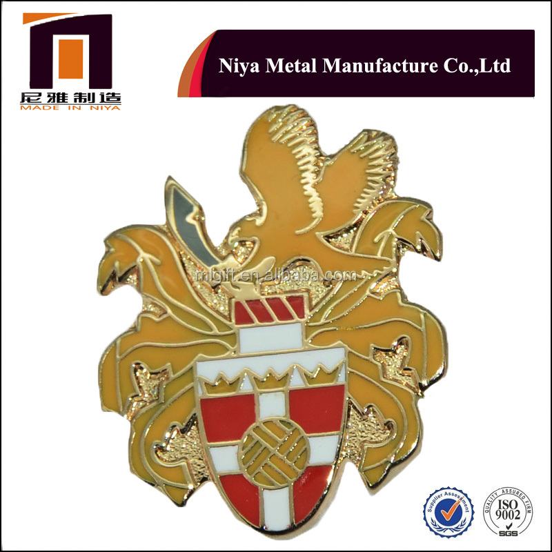 Promotional souvenir Round zinc alloy pin metal enamel pin
