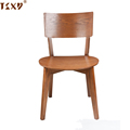 2018 modern design plywood seat wood legs dining chair