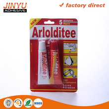 Jinyu wholesale MSDS certification quick and strong adhesive aluminum tube epoxy adhesive AB glue