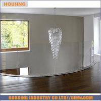 internal stainless steel standoff glass railing