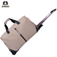 Sinpaid Hot Sell Luggage & Travel Bags Large Capacity Polyester Waterproof Folding Trolley Luggage Bag Travel Bag Women Handbag