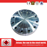 Stainless steel 304 blind rf flanges anti rust oil painting