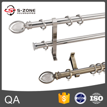 New design wall mount 28mm stainless steel double curtain rods