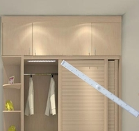 Battery Supply Led wardrobe light wireless magnetic stiker led under cabinet light with PIR sensor