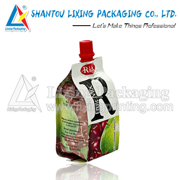 Juice spout top package bag