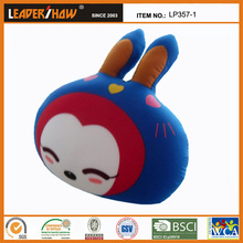 Rabbits shapes supporting cushions filled with beads covered plush