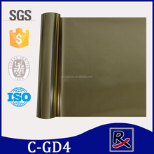 C-GD4# Popular gold metalized pet heat transfer film for fabric & textile