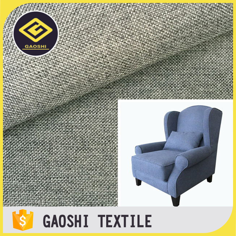 600D Double Color PU Backing Polyester Fabric for Sofa Chair