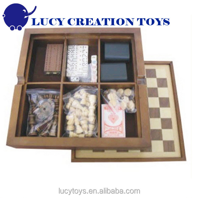 Multi Game Box 7 in 1 Wooden Chess Game