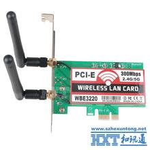 Dual-Band 300Mbps PCI-e PCI Express Card Bluetooth 4.0 Network Wlan WiFi Adapter