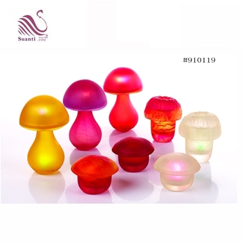 Eco-friendly Customized Green Red White Yellow Translucent Swirl Resin Night Mood Light for kids