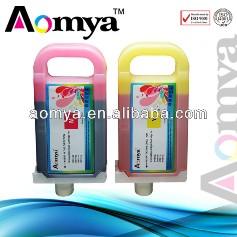 compatible ink cartridge for Canon PFI-702(MBK/BK/GY/PGY)+PFI-701(C/M/Y/PM/PC/R/G/B)Wide Format Cartridge For Canon iPF 9100